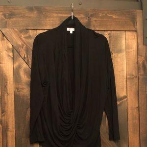 Cross cross black long sleeve T-shirt